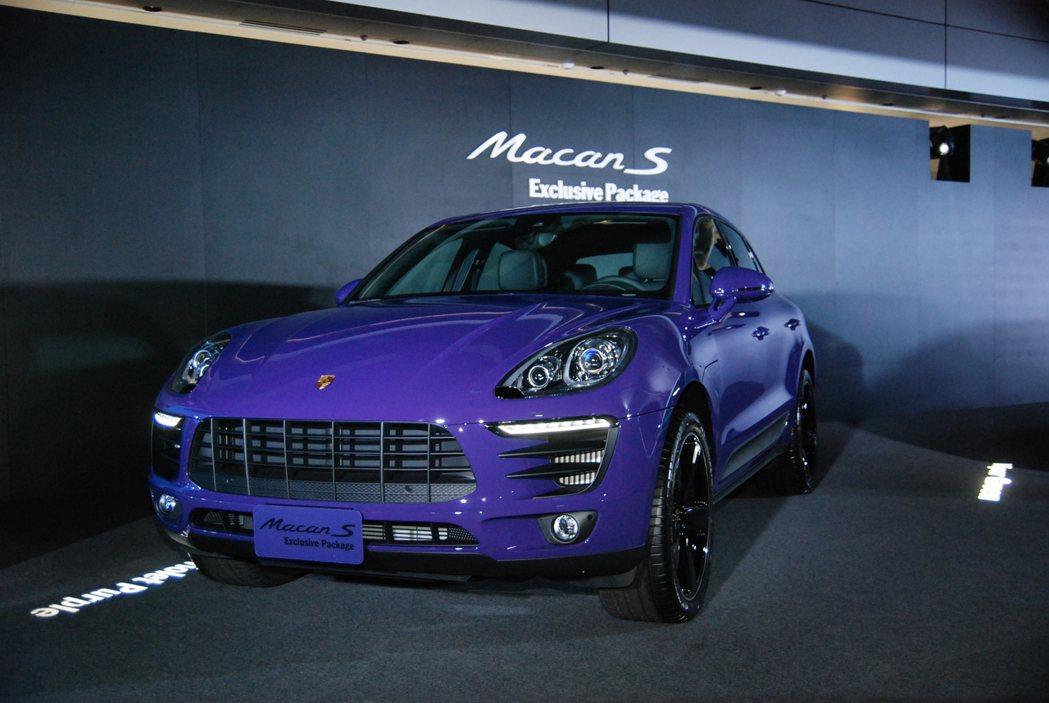 圖為 Ultra Violet 羅蘭紫車色的 Macan S Exclusive Package。 記者林鼎智/攝影