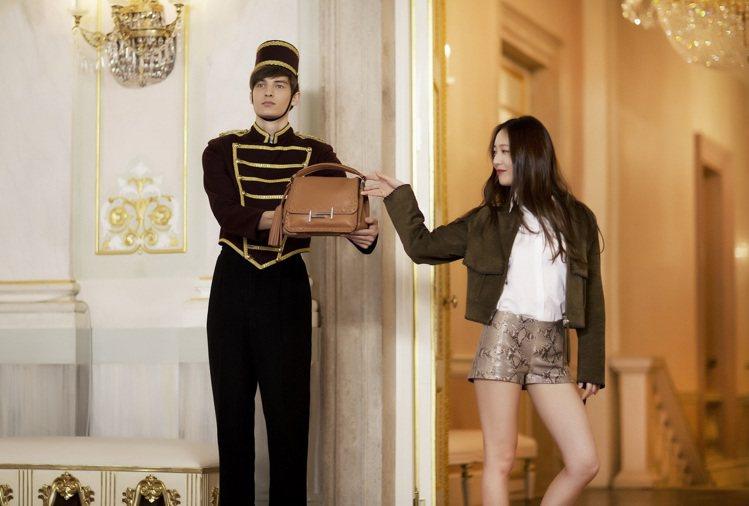 鄭秀晶Krystal遊威尼斯拍TOD'S廣告片。圖/迪生提供