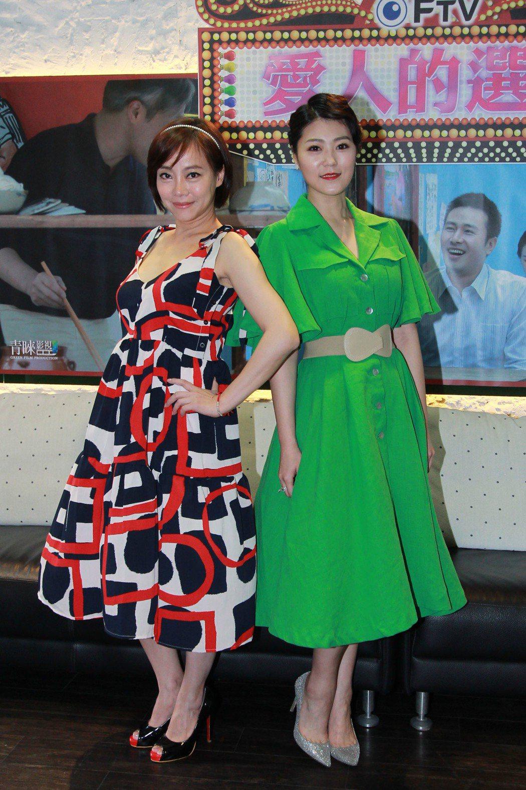 范瑞君(左)、曹雅雯在「外鄉女」中演出同門師姐妹。圖/民視提供