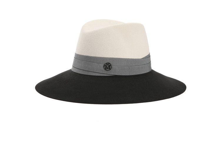 Maison Michel撞色淑女帽,售價28,000元。圖/MINOSHIN提...