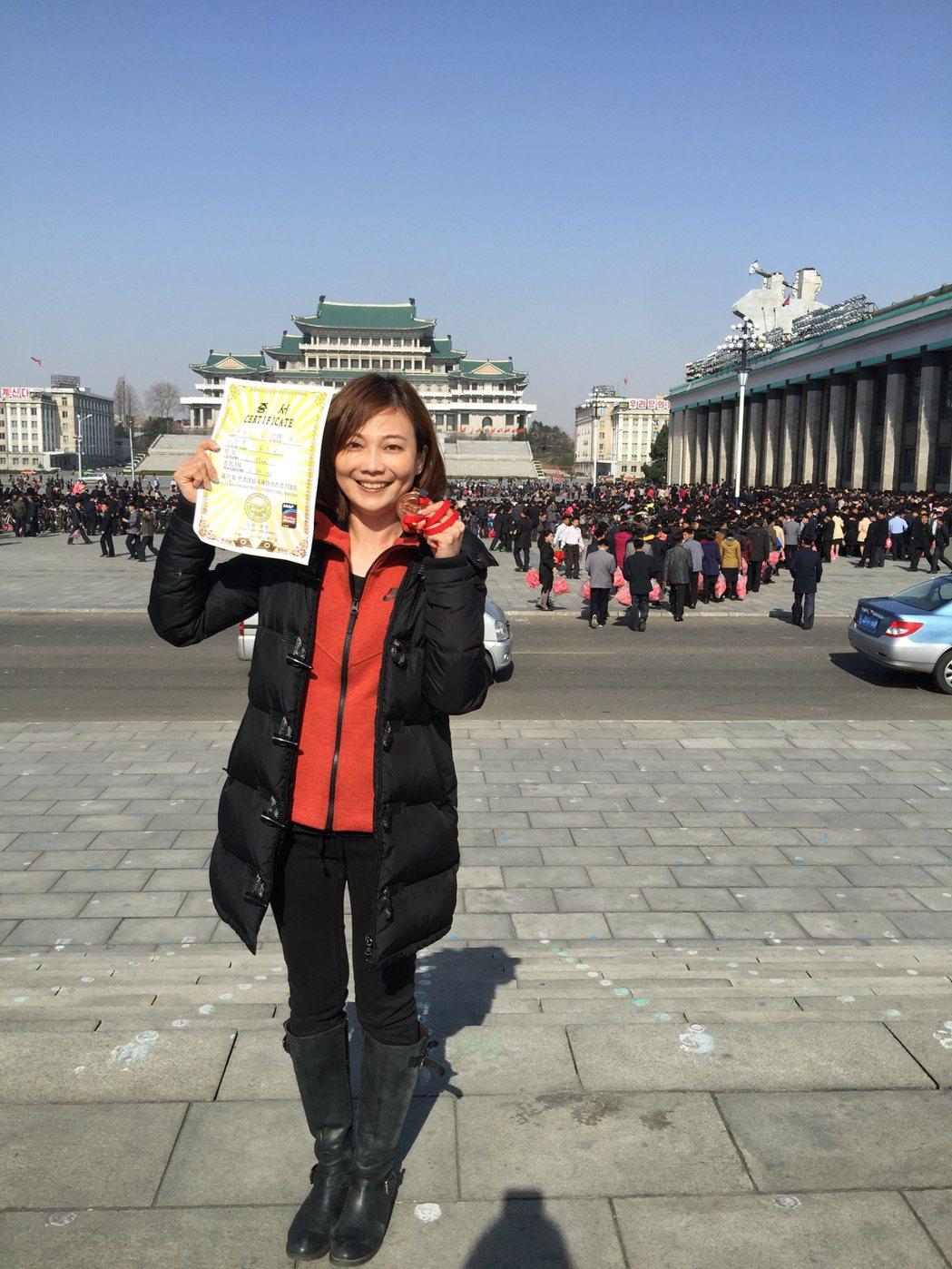 郭雅惠完成馬拉松賽程。圖/三立電視台提供