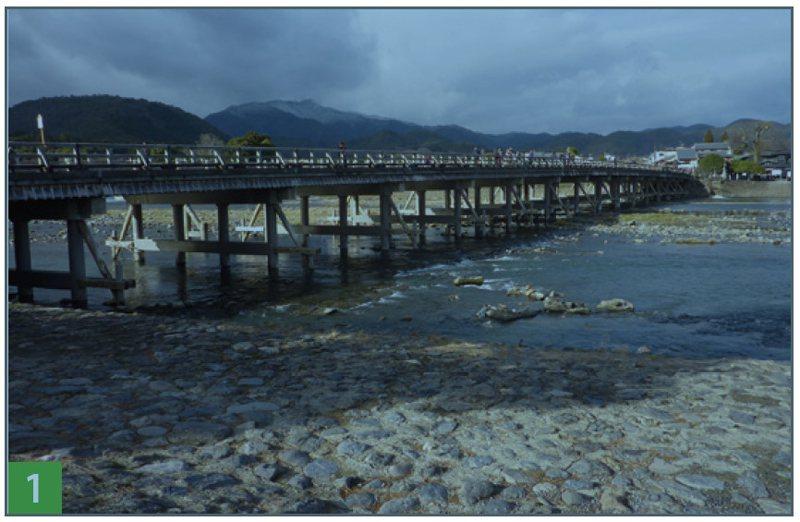 嵐山最著名的景點──渡月橋。