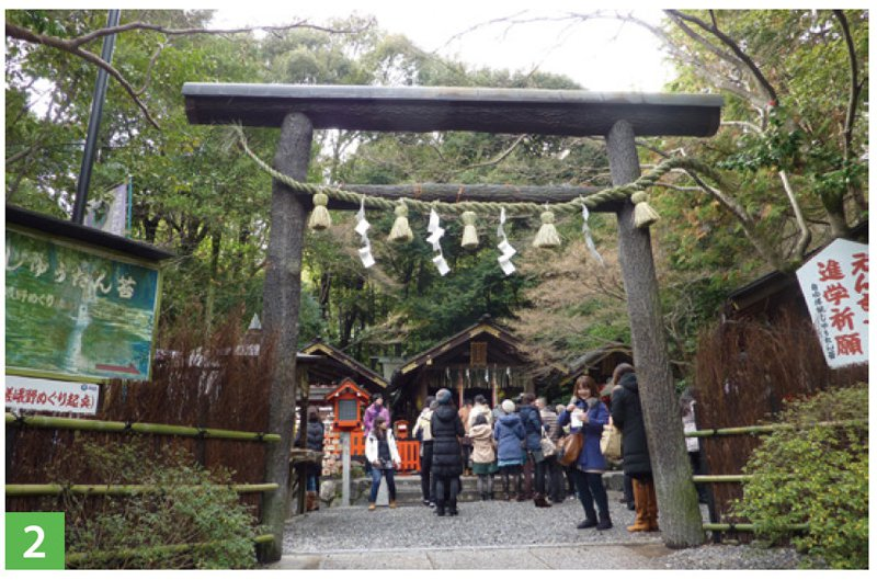 隱沒在竹林中的野宮神社。