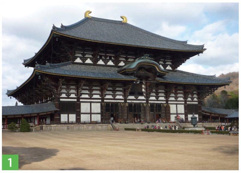 東大寺的大佛殿莊嚴雄偉。