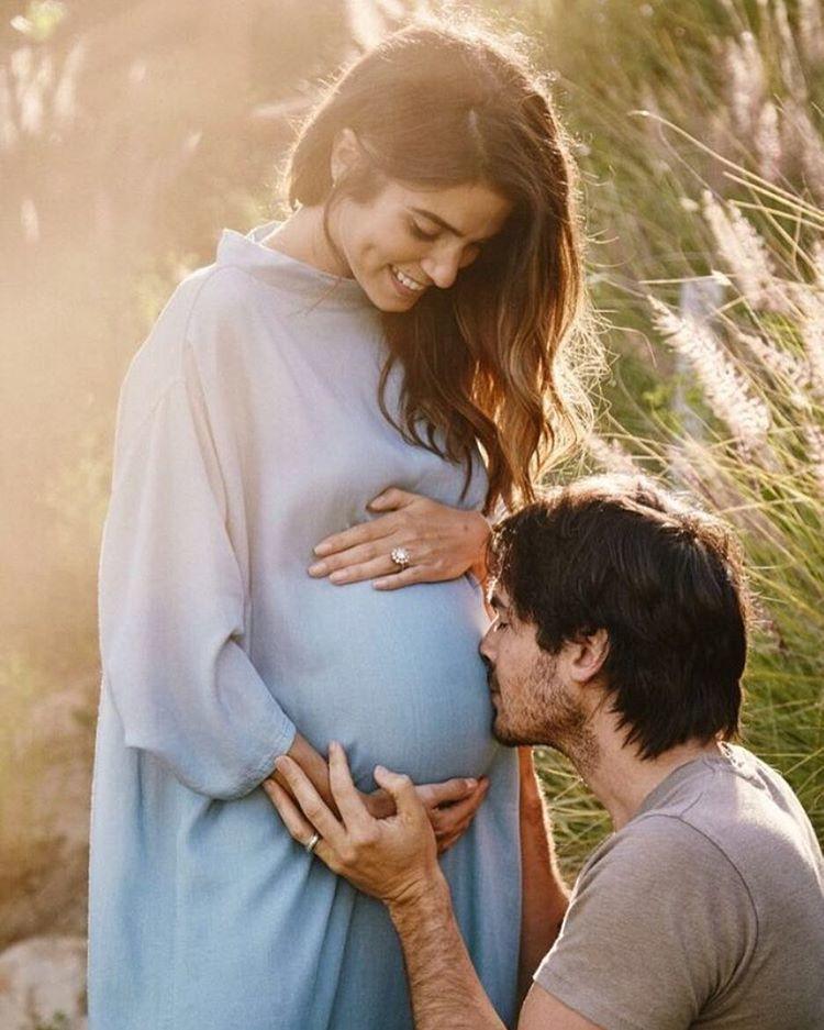 伊恩桑瑪赫德與妮琪李德將為人父母。圖/摘自Instagram