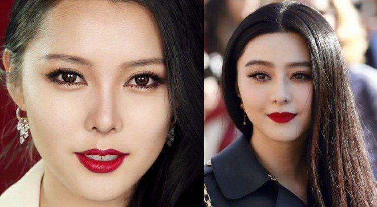 「韓國美妝部落客始祖」的PONY經典仿妝作品─范冰冰。圖/擷自twitter