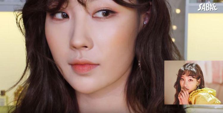 Risabae仿妝韓國女團少女時代成員太妍。圖/擷自youtube