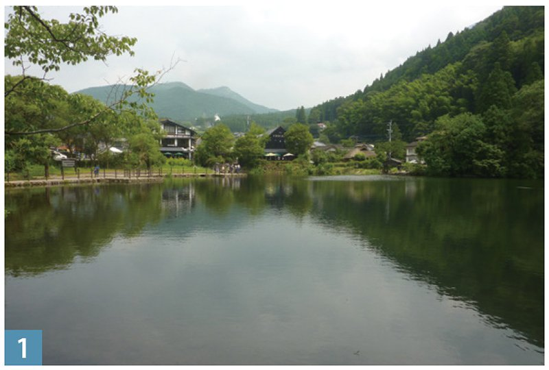 風光如詩如畫的金鱗湖。