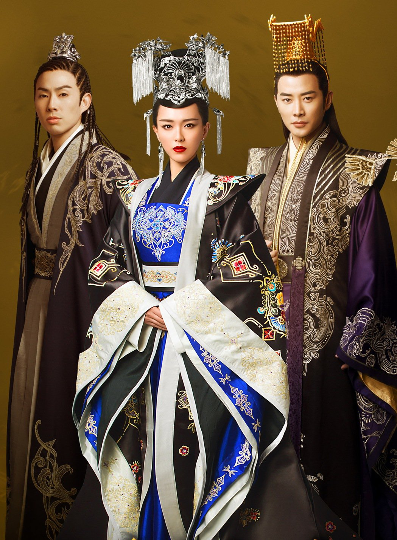 吳建豪(左起)、唐嫣、羅晉主演「錦繡未央」。圖/八大提供