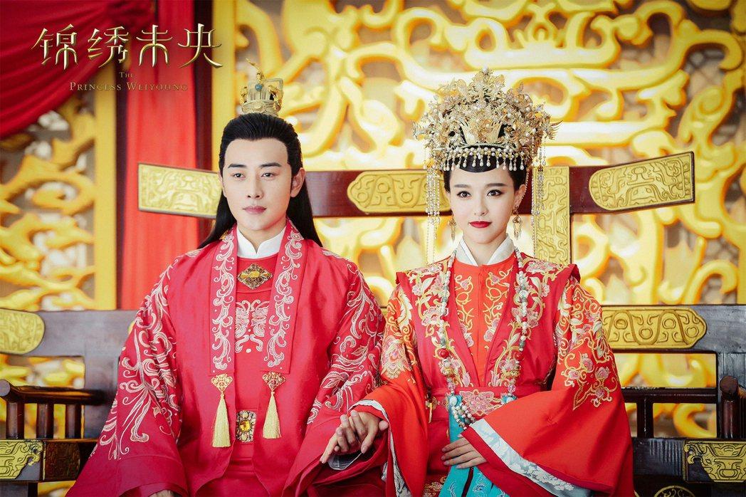 唐嫣、羅晉因「錦繡未央」從朋友晉升為戀人。圖/八大提供