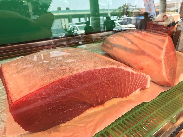 黑鮪魚生肉。記者蔣繼平/攝影