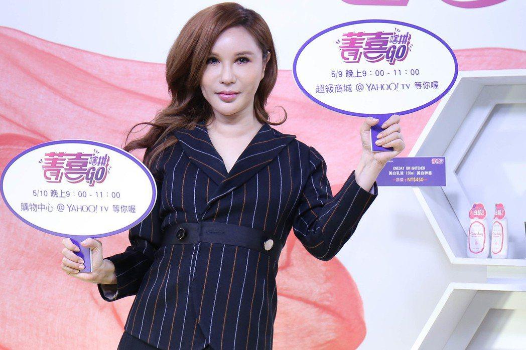 利菁出席雅虎直播節目。實習記者張詠翔/攝影