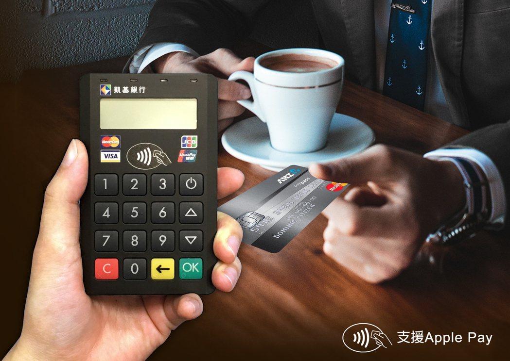 訊航科技與凱基銀行合作推出mPOS行動刷卡機。 速買配/提供