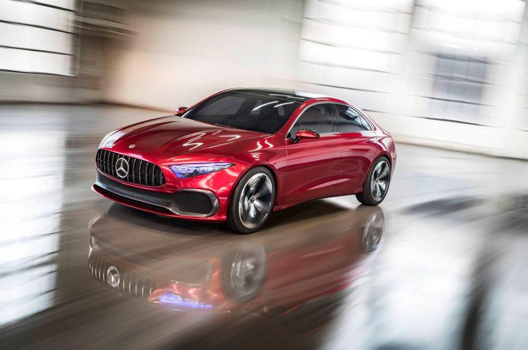圖為 Concept A Sedan。 摘自 Mercedes-Benz