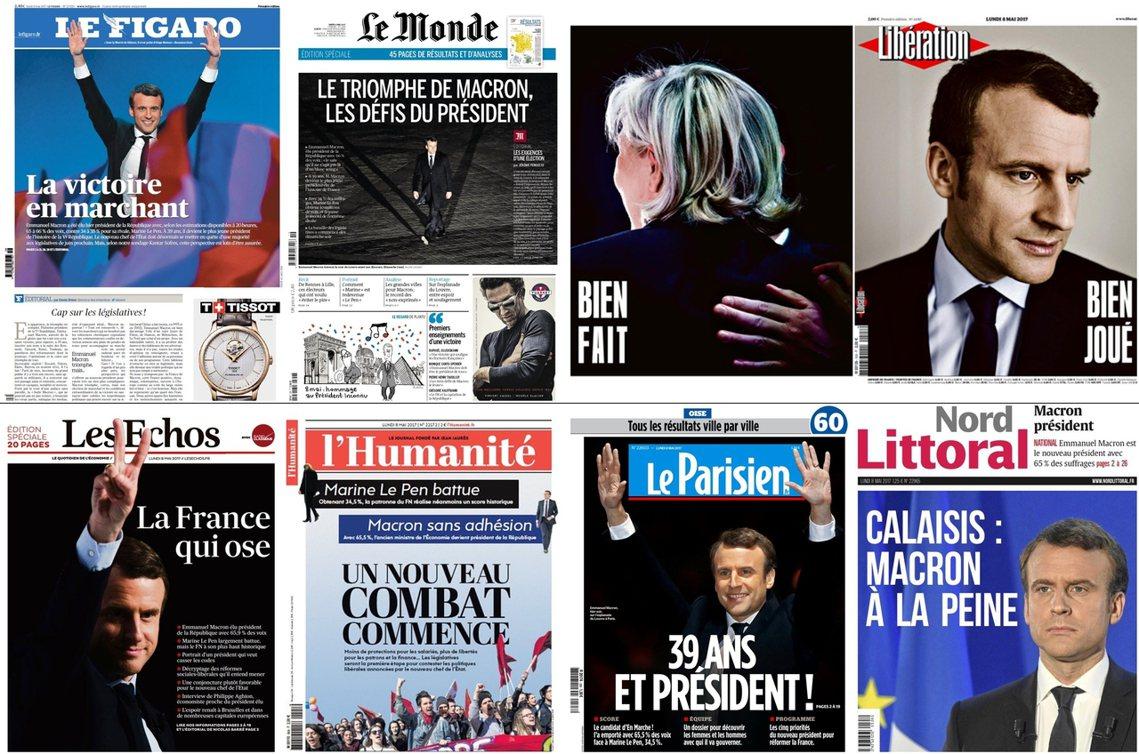 不同立場的媒體,也各自透過不同的標題,提醒著沒有政治包袱的馬克宏——愛麗榭宮的挑...