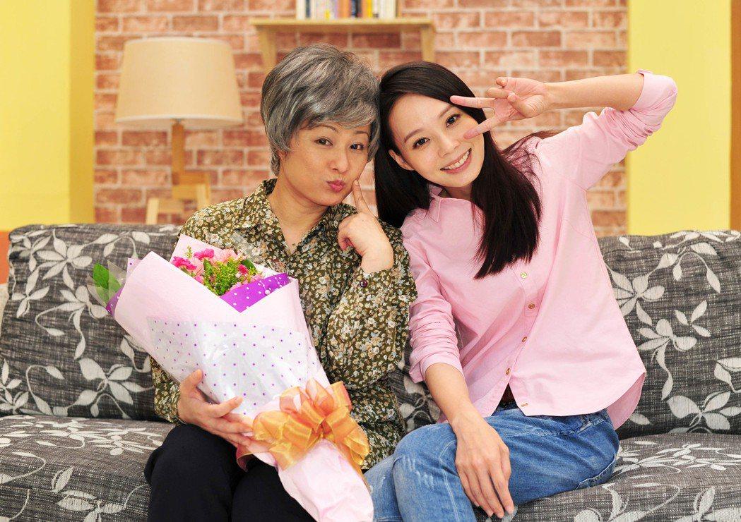 林小樓、孫淑媚在新戲「牡丹花開」中飾演母女。圖/台視提供