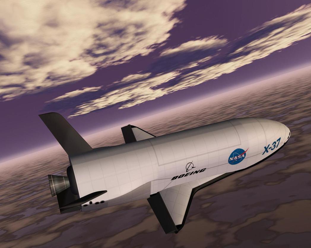 X-37B飛行模擬圖。圖/歐新社