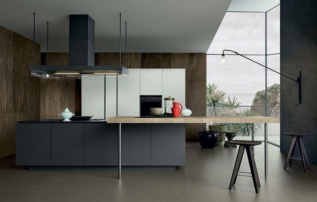米洛墨深色系列門板讓廚房質感再提升。 雅登廚飾/提供