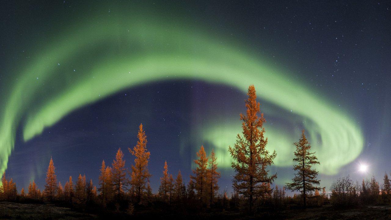 俄羅斯極光。圖/擷取自 Ajith Kumar flickr