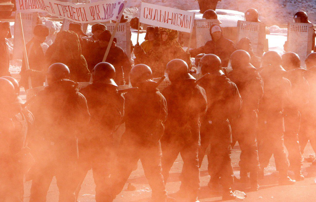 俄羅斯特種部隊於莫斯科的反恐演練。 圖/法新社
