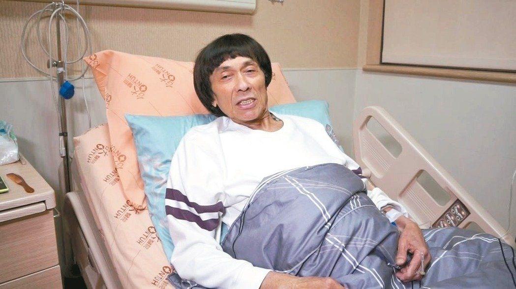罹大腸癌的豬哥亮在台大醫院接受治療。圖/本報資料照