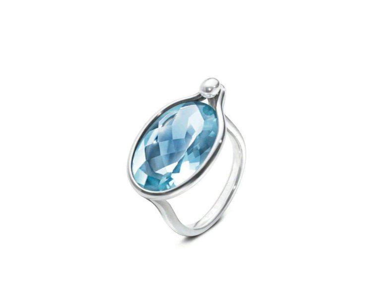 SAVANNAH系列純銀鑲藍色拓帕石戒指,28,300元。圖/GEORG JEN...