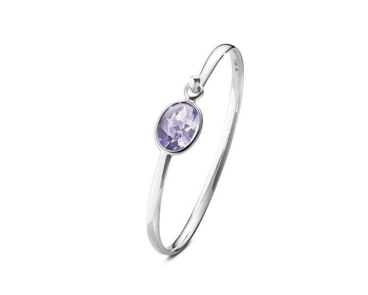SAVANNAH系列純銀鑲紫水晶手鐲,14,800元。圖/GEORG JENSE...