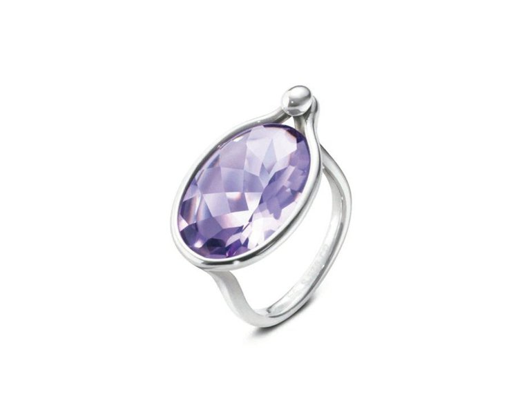 SAVANNAH系列純銀鑲紫水晶戒指,18,900元。圖/GEORG JENSE...