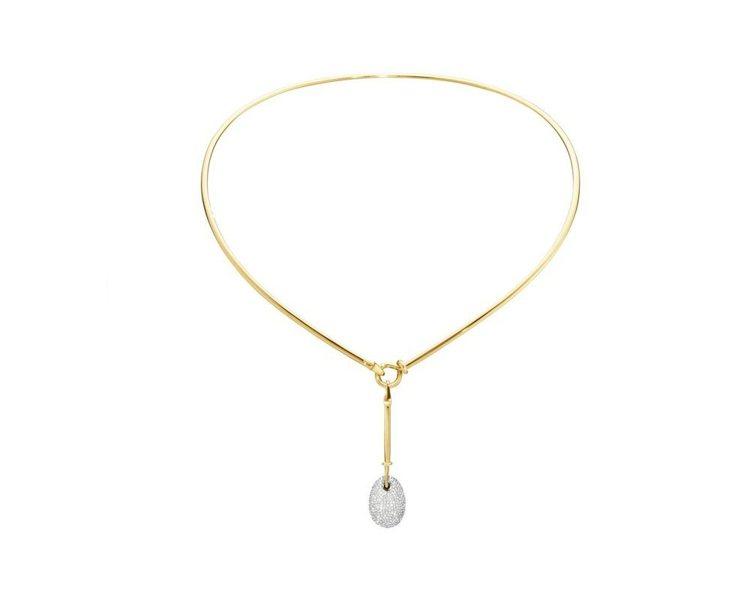 DEW DROP 18K黃金鑲鑽墜飾頸圈,55萬8,500元。圖/GEORG J...