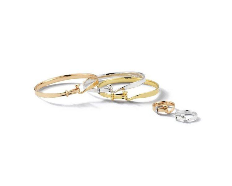 TORUN 204 系列玫瑰金、黃K金、純銀鑲鑽手鐲及戒指,依材質不同5,300...