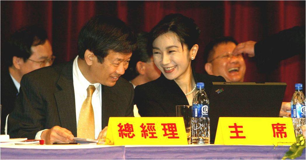 開發金2004年股東會,陳敏薰大戰中信辜家,從日出開到日落。 報系資料照