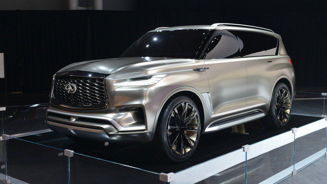 新一代 QX80 將大量使用 Monograph Concept 概念車的設計元...