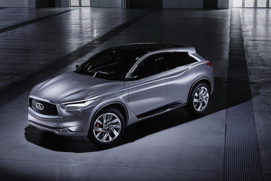 目前 Infiniti 有一系列車款正在進行測試,其中包含電動跑車、Hybrid 油電混合車型,以及目前正在測試的 QX50 跨界車型。圖為 QX50 跨界車款。 摘自 Infiniti
