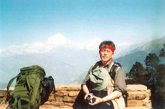 文在寅2004年登喜馬拉雅山留影 /照片來源:南韓中央日報