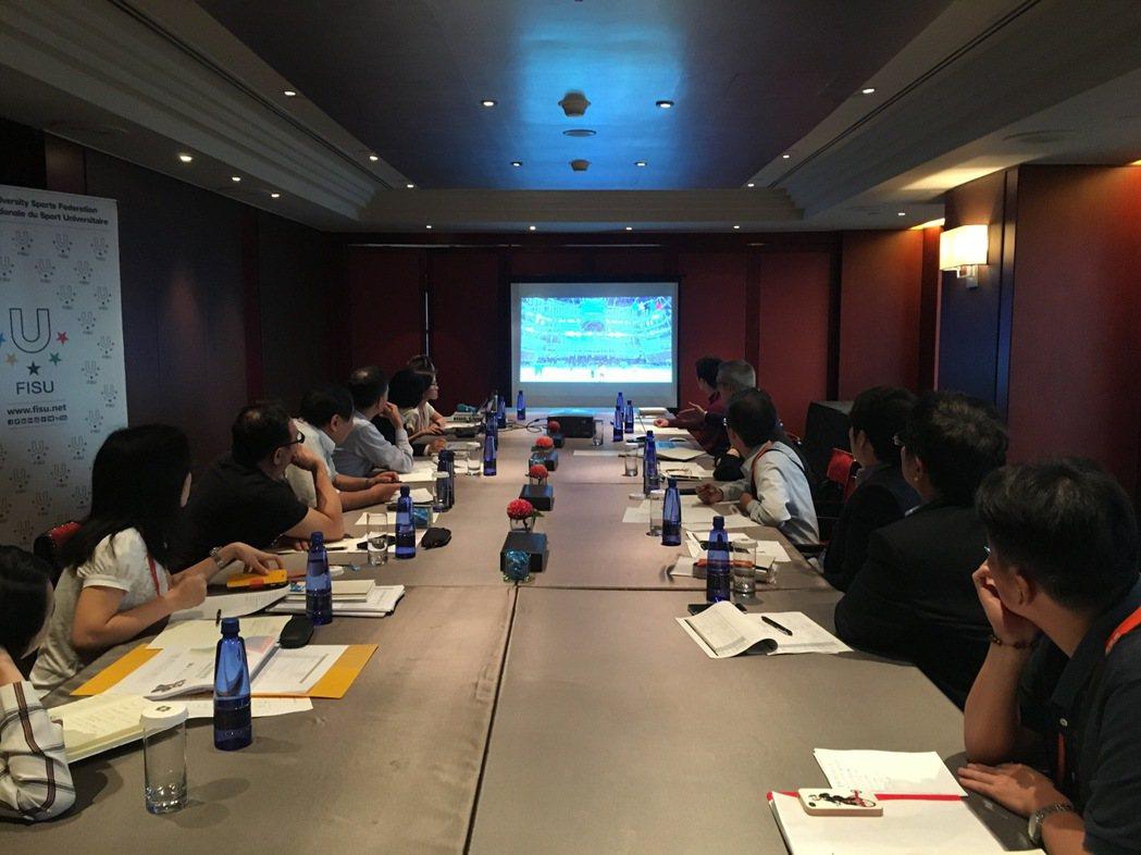 FISU首席營運長Dijan與執行團隊來台視察,並與市府、主轉播商華視就各項轉播...
