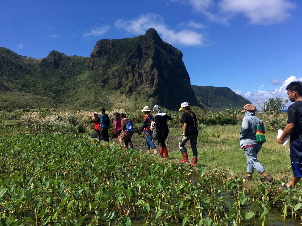 蘭嶼鄉公所今年培訓40名解說人員,在當地資深解說教師引導下,實地走訪習以為常的在...