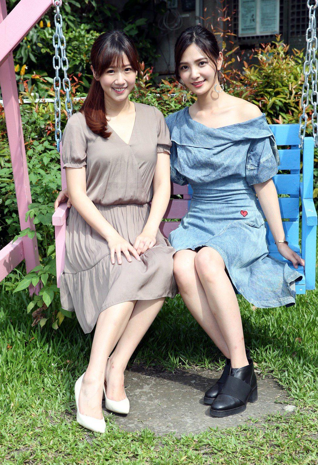 方志友(左)、吳子霏 也參與同志純愛網路劇《紅色氣球》的演出。記者林俊良/攝影