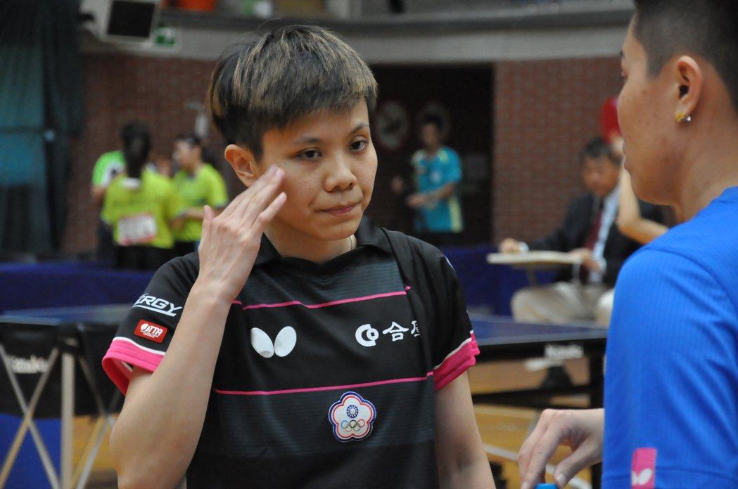 鄭怡靜今天3戰都以3:1的局數拿下勝利。 記者曾思儒/攝影
