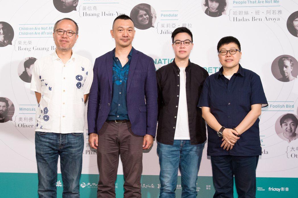 台北電影節國際新導演競賽台灣入圍作品代表,左起:「大佛普拉斯」監製鍾孟宏、導演黃