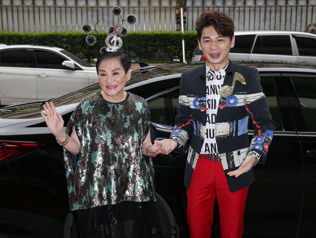 張小燕和阿Ken出席中視《K歌大明星》新節目記者會。記者曾吉松/攝影