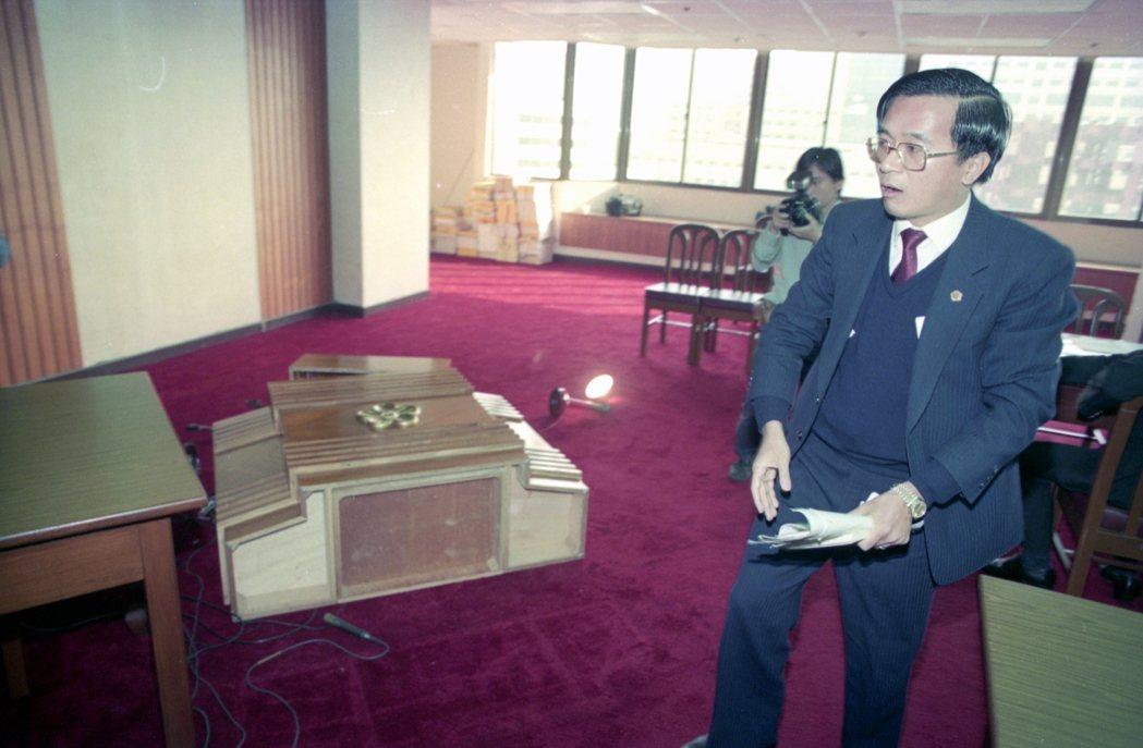 1990年3月7日,立法院院會郝柏村上台答詢後,陳水扁不甚滿意高喊「這樣就結束啦...
