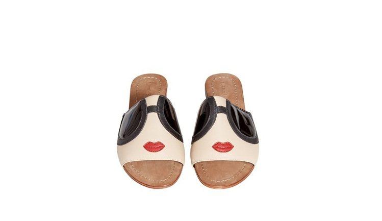 Stace Face拖鞋,8,900元。圖/alice+olivia提供