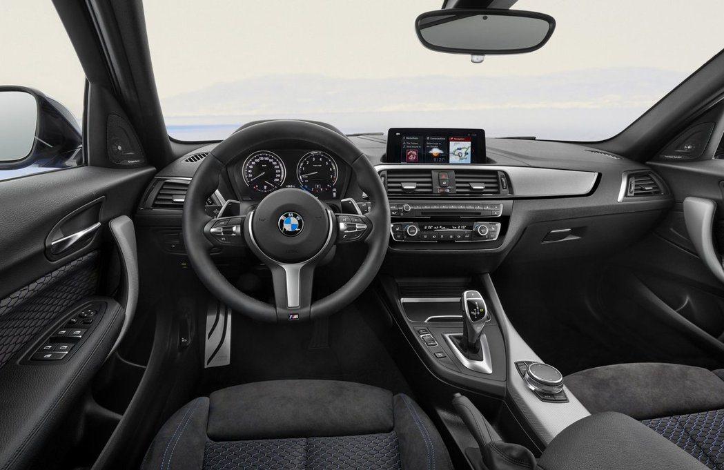 小改款BMW 1-Series內裝。圖/BMW提供