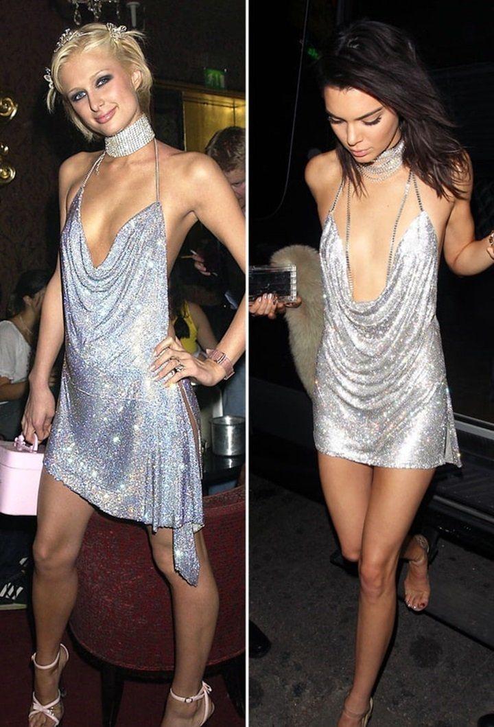 坎達爾去年的成年生日派對,選擇一件和派瑞絲希爾頓成年時穿的很像的禮服,向這位名媛...