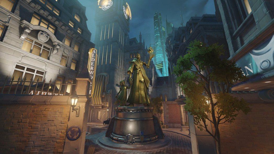 國王大道廣受玩家喜愛,是目前投票結果中排行第一的地圖。 圖/鬥陣特攻遊戲畫面
