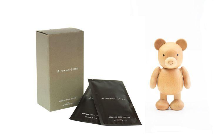 b. barista 木質小熊濾掛咖啡禮盒:木質小熊公仔乙只+濾掛咖啡乙盒(5 ...