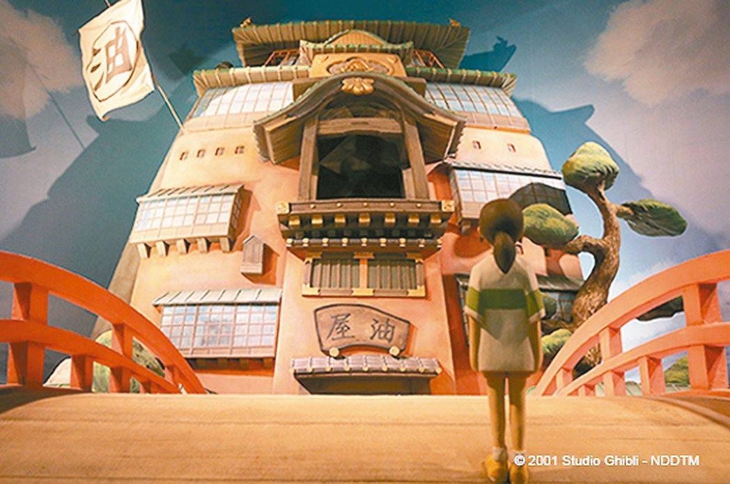 「吉卜力的動畫世界」特展經典場景「神隱少女」。 圖/聯合數位文創提供
