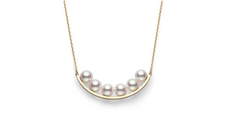 TASAKI balance plus 珍珠黃K金項鍊,73,900元。圖/TA...