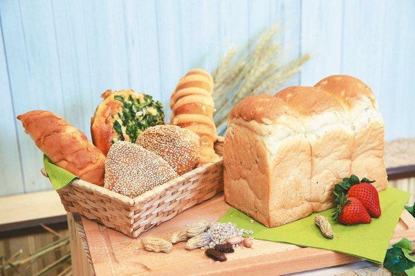 萊爾富推出三款台灣小麥麵包都是使用台灣在地食材。