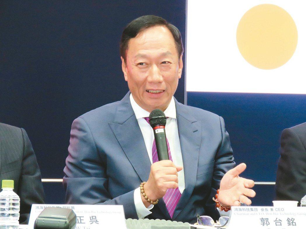 鴻海董事長郭台銘。圖/聯合報系資料照